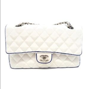 COPY - Chanel classic grosgrain white with blue t…